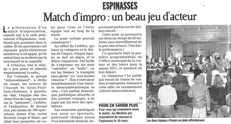 Match espinasses (Janvier 2011)