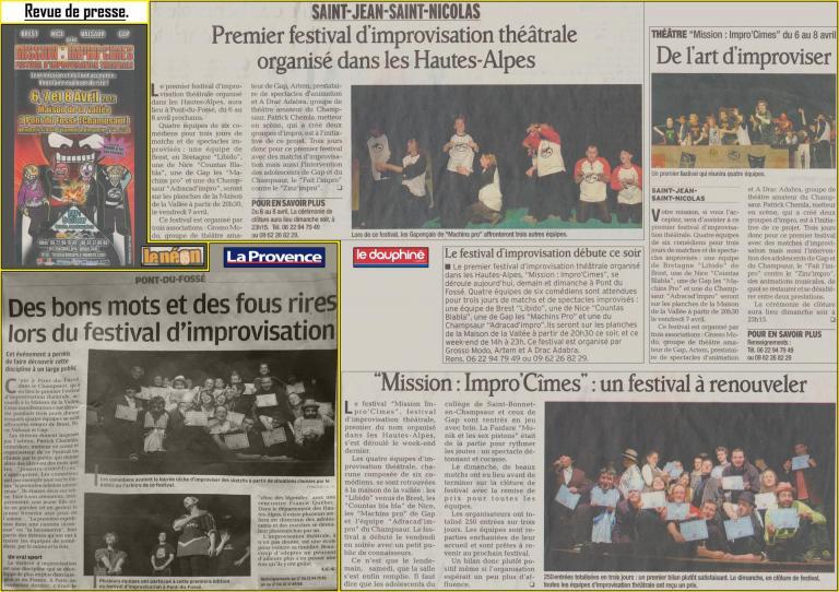 Articles festival (Avril 2012)