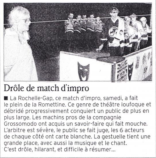 Article La Rochelle (Octobre 2012)