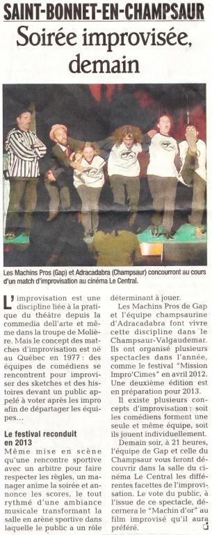 Article cinéma (29 Novembre 2012)