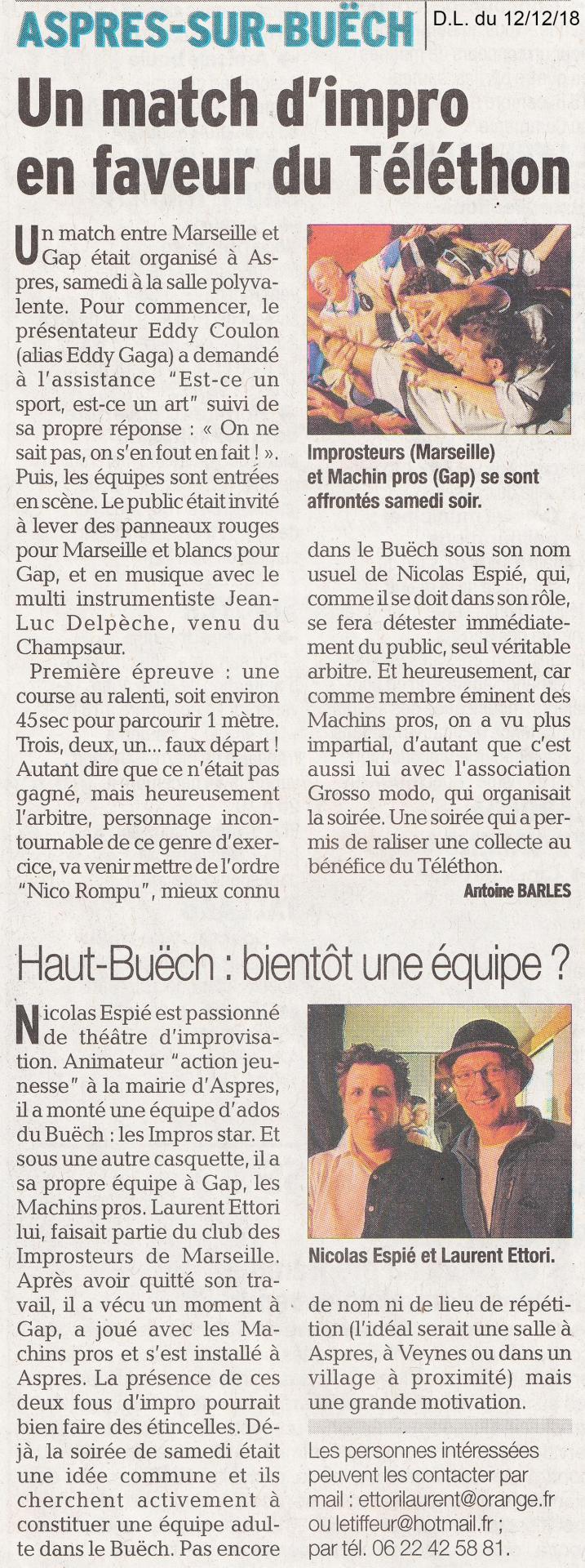 Article match Buëch (12 Déc. 2018)