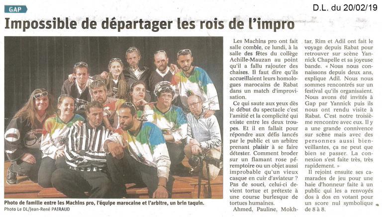 Article match Maroc (20 Fév. 2019)