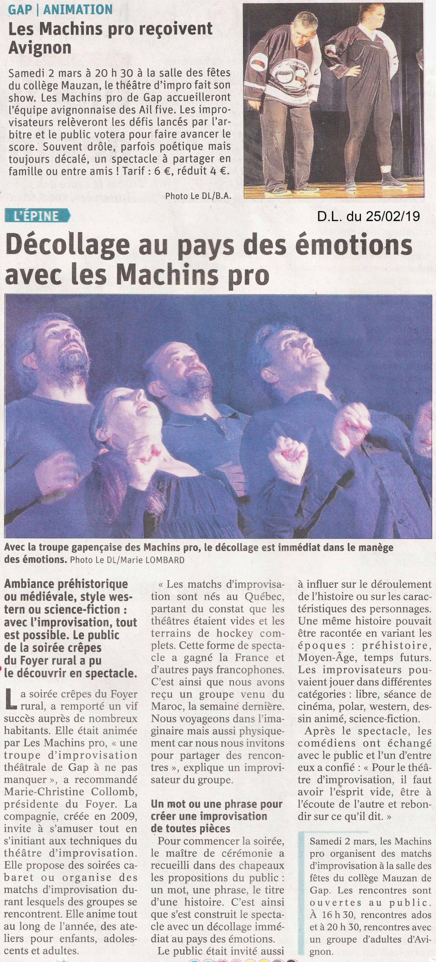 Article l'Epine + Avignon (25 Fév. 2019)