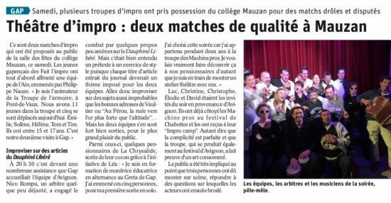 Article match Avignon (Mars 2019)