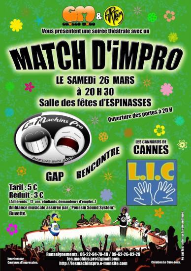 Match impro printemps