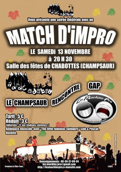 Match impro automne