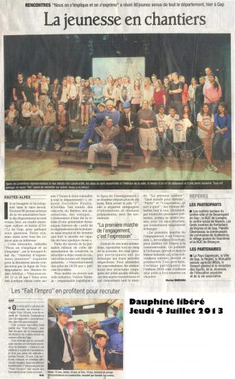 Article ados CMCL (Juillet 2013)