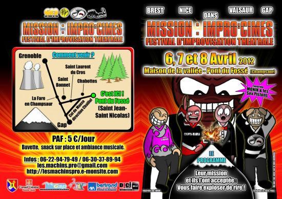 Festival Mission Impro'cîme recto